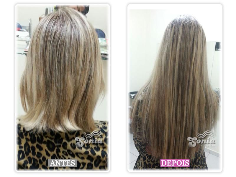 8d40aa30f Alongamento para cabelos louros usando queratina ...